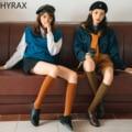 Женские носки-трубы HYRAX, чулки, женские носки, нажимные носки, модные носки до колена, гольфы