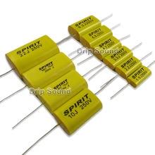 Pinça divisor de frequência alto falante, 2 peças 4.7uf 33uf 250v capacitor não polaridade crossover