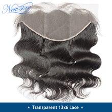 Прозрачный 13x6 Кружева Фронтальная застежка бразильские волнистые волосы предварительно выщипанные волосы с детскими волосами new star натуральные волосы Кружева Закрытие