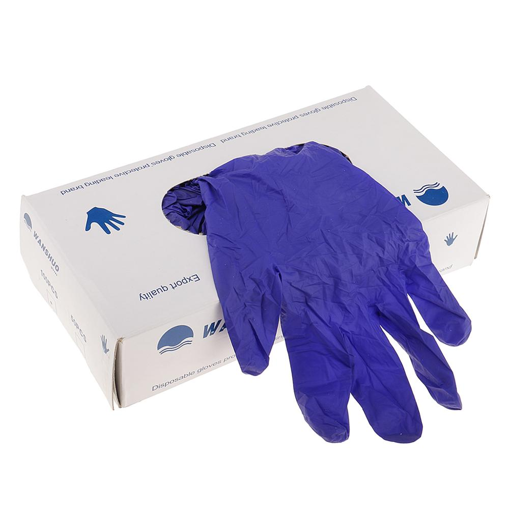Purple High Quality Nitrile Exam Disposable Gloves Grade 100/box XL/L/M/S Disposable Gloves For Left And Right Hand