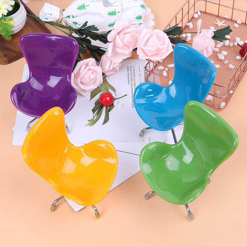 New Design 1/6 Dollhouse Miniature Chair Furniture Model Toys For Doll House Decoration 6 Colors Toy Chair