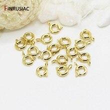 14k banhado a ouro lagosta fecho/primavera fechos para fazer jóias diy pulseiras colares fechos descobertas artesanato