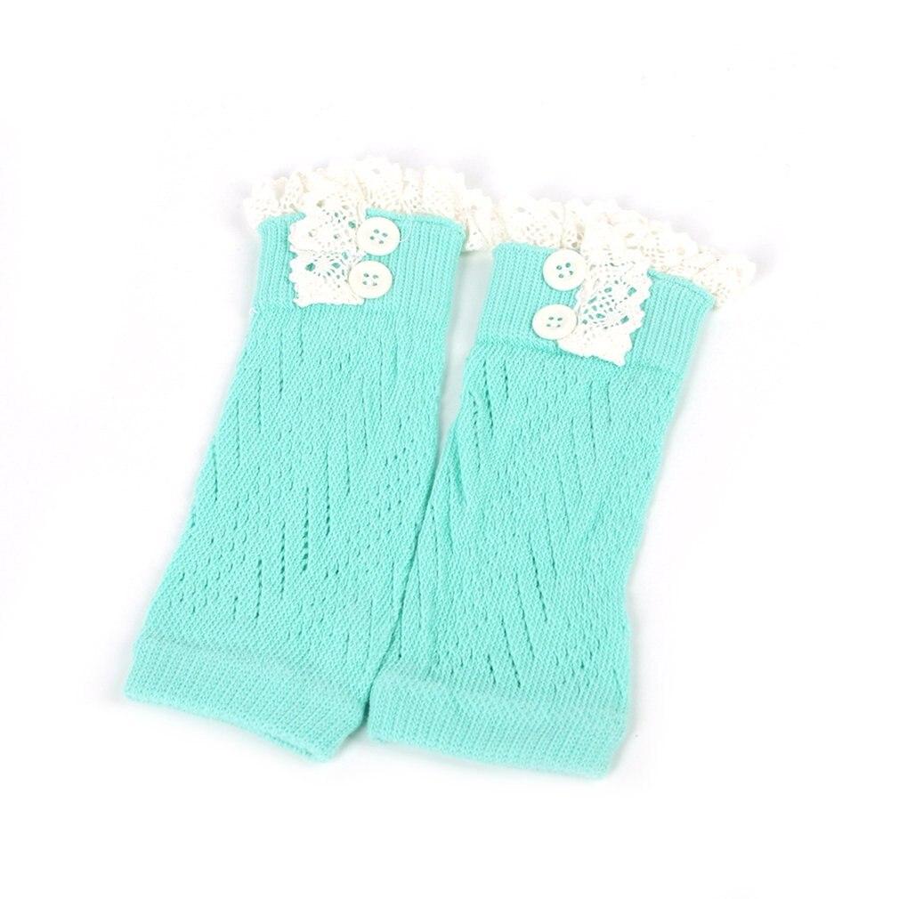 В европейском и американском стиле; модная удобная детская одежда для маленьких девочек вязаные крючком ботинки на шнуровке Теплые гетры; нарукавники гетры для малышей - Цвет: lake blue
