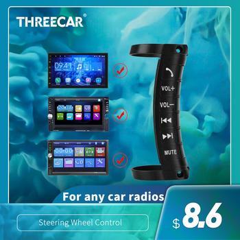 Wielofunkcyjne zdalne sterowanie kierownicą samochodu służy do sterowania 2 DIN odtwarzacz DVD uniwersalny bezprzewodowy pilot Bluetooth tanie i dobre opinie THREECAR NONE CN (pochodzenie) Steering Wheel remote control 500g Tuner radiowy Remote Controls CT-MP5-112 Controller Key