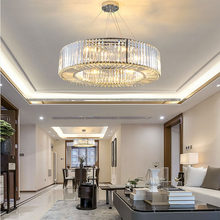 Luxury Modern Chandelier Lighting Round Crystal Light Fixtures Living Dining Room LED Lustres De Cristal