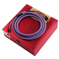 HiFi MPS SGP 148SP HiFi 6N OCC+24K Gold Plated plug 2to4 4to4 Bi wire amplifier CD DVD speaker wire Medium speaker cable