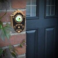 Halloween One eyed Doorbell Decoration Ghost's Day Glowing Hanging Piece Door Hanging Halloween one eyed doorbell A1