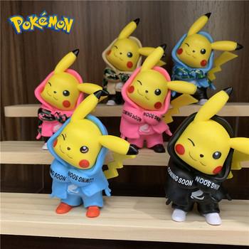 TAKARA TOMY Pokemon 10CM pcv Pikachu kamuflaż popularne ubrania Pokemon śliczne figurka Pokemon Model dekoracji prezent tanie i dobre opinie Dla osób dorosłych Adolesce 4-6y 7-12y 12 + y 18 + CN (pochodzenie) BOYS Wersja zremasterowana Peryferyjne 1677 Japonia