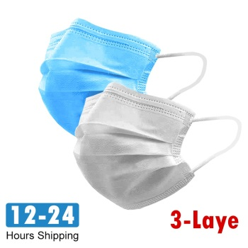 100pcs Disposable Protective Anti Flu Dust Pollution Mask Face Allergy Particulate Face Filter Air Purification