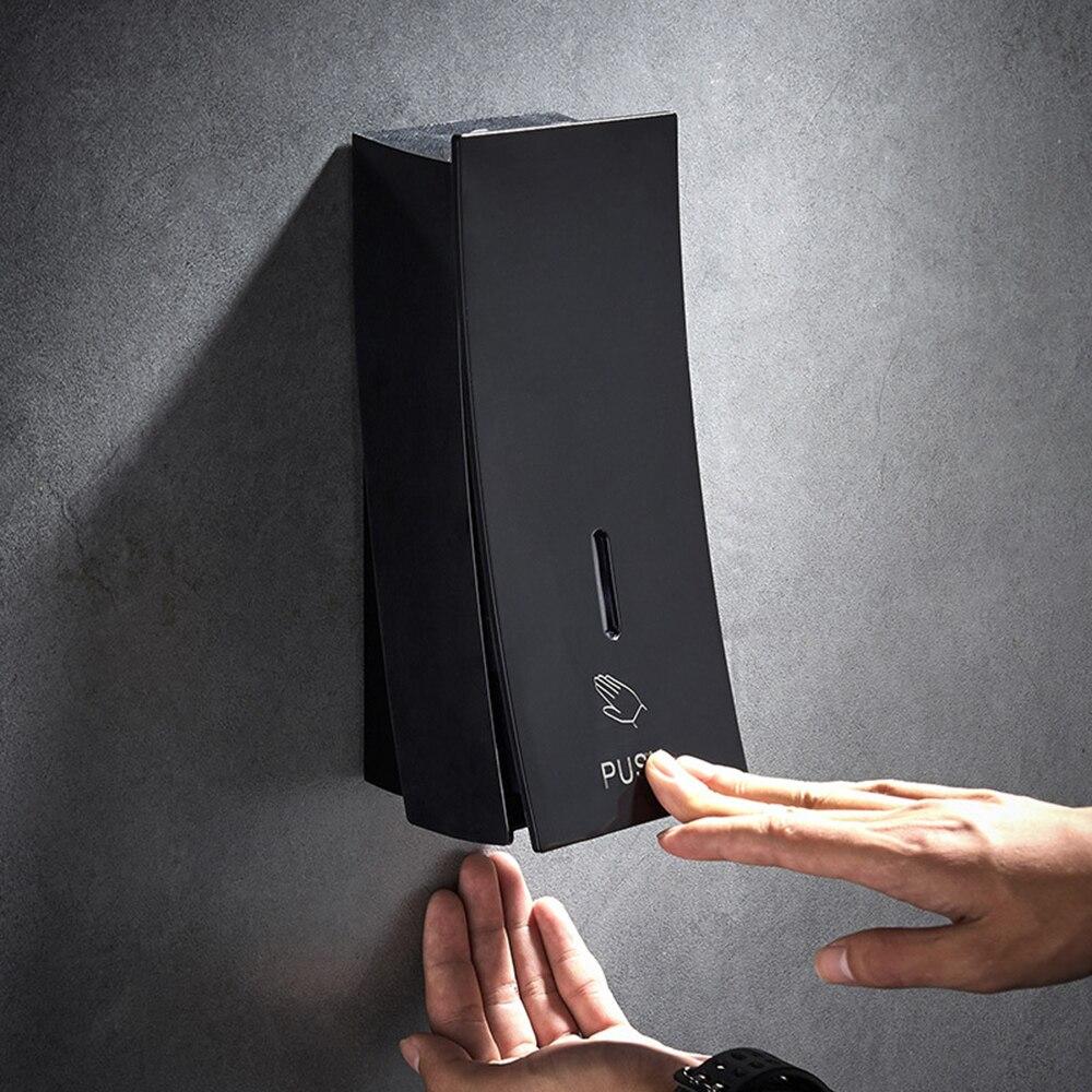 Hand Soap Dispenser Wall Mounted black 450ml Liquid Shampoo Shower Container Plastic Soap Holder for Bathroom Washroom