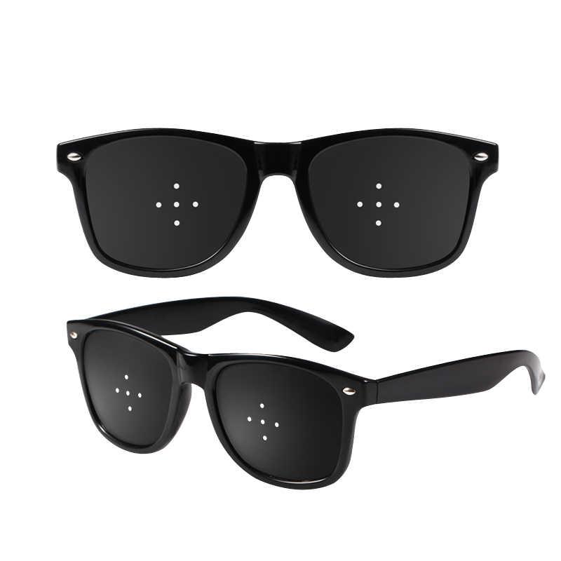 Anti Miopia Silindris Kacamata Strabismus Koreksi Kelelahan Lubang Pin Kacamata untuk Pria Wanita Penglihatan Meningkatkan Alami EY463