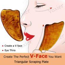 Face Scraping Board Gua Sha Scraping Massage Board Health Beauty