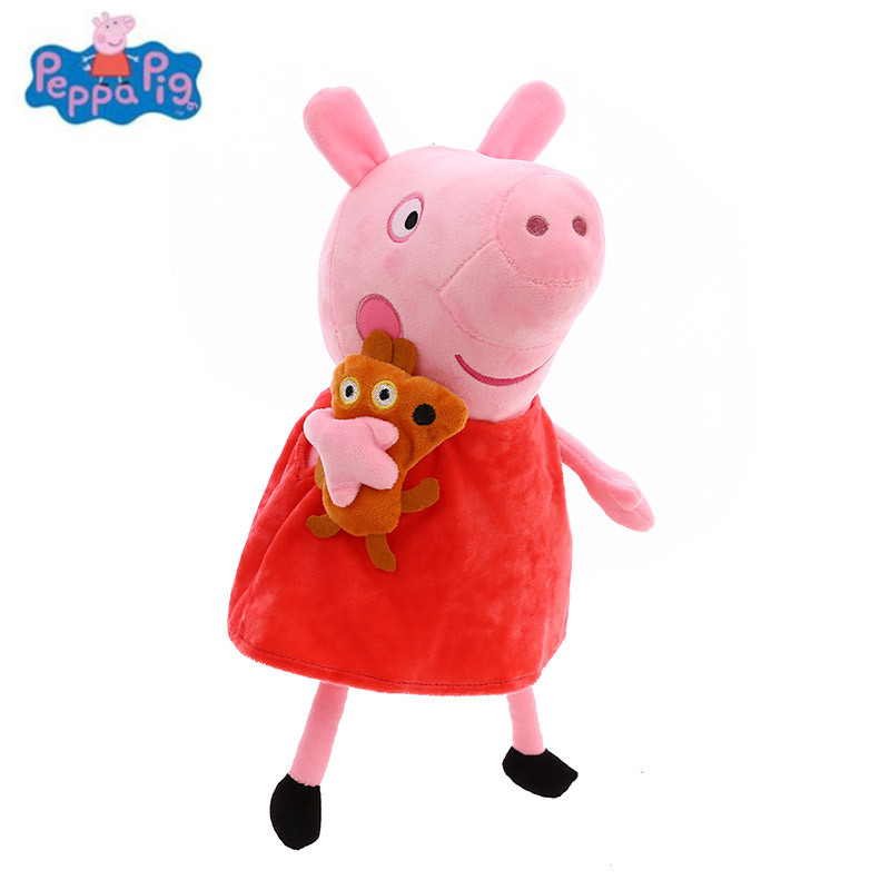 19/25 CM Peppa Pig George Dad Mom Family Pack Peppa And Friends Cute Cartoon Stuffed Doll Purse Plush Toys For Children Gifts