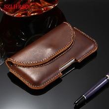 SZLHRSD ل شياو mi mi ماكس 3 ماكس 2 mi x 2S الأحمر mi 6A حالة جلد طبيعي الحافظة حزام كليب الحقيبة فوندا غطاء الخصر حقيبة الهاتف غطاء