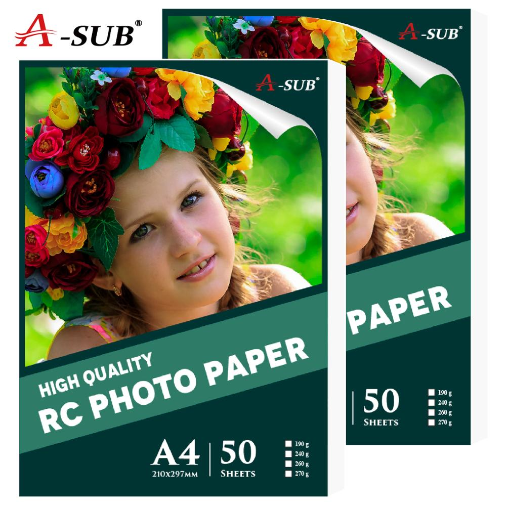 A4 Waterproof Inkjet Printing RC Photo Paper 190g/240g/260g  For High End Photography 50 Sheets