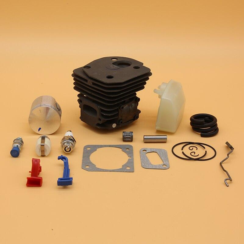 Pistão do Cilindro para Husqvarna Kit de Filtro Peças Motosserra Vela Ignição Linha Filtro Combustível 45mm ar 353