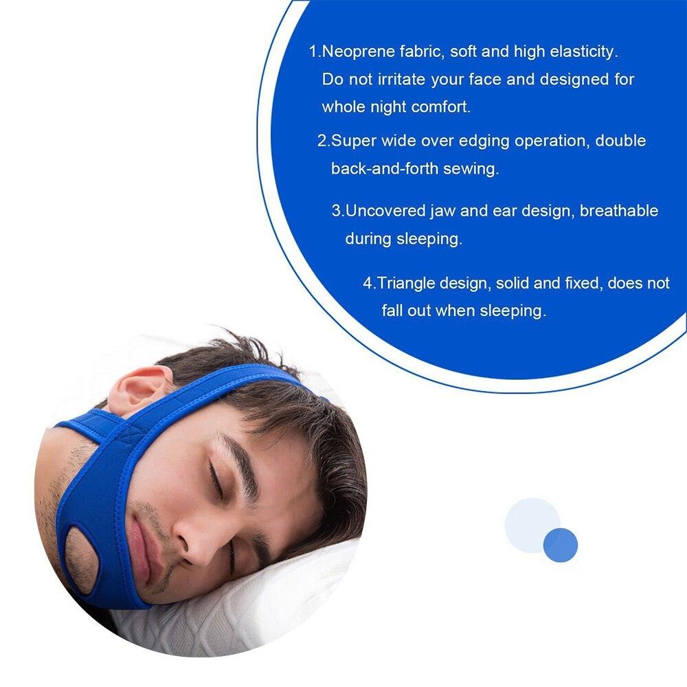 Image 4 - New Neoprene Anti Snore Stop Snoring Chin Strap Belt Anti Apnea Jaw Solution Sleep Support Apnea Belt Sleeping Care Tools-in Sleep & Snoring from Beauty & Health