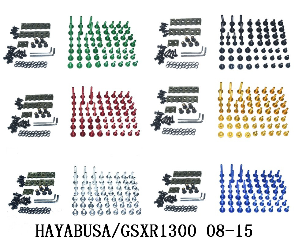 Motorcycle Complete Fairing Bolts Kit Bodywork Screws For Fit  Suzuki  HAYABUSA/GSXR1300 2008 2015|Full Fairing Kits| |  - title=