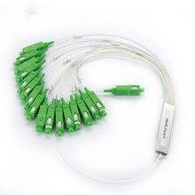 Trasporto Libero 1X16 PLC Splitter SC APC Ottica FTTH Fibra Ottica Splitter FBT Ottico Monomodale Simplex Tubo di Acciaio 1M