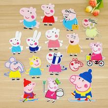50pcs/lot Pink Embroidery Patches Cute Animal Pigs Cartoon Clothing Accessories Heat Transfer Badge Iron Applique Clothes Diy