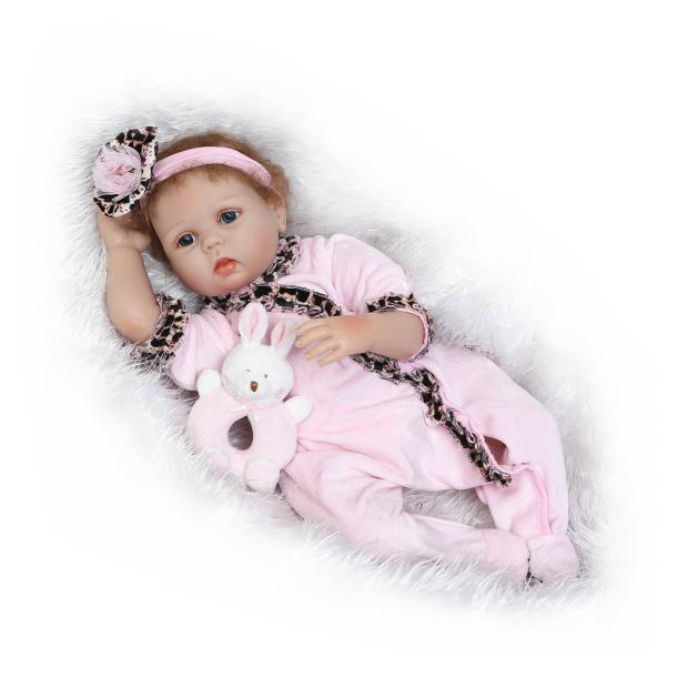 Model Infant Soft Silcone Ocean Baby Play House Toys GIRL'S Hand-Rooted Curly Mohair