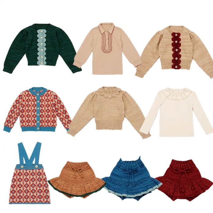 Kids Sweaters 2021 Winter Misha Puff Boys Girls Knit High Quality Print Cardigan Children Baby Cotton Knitwear Outwear Clothes 1