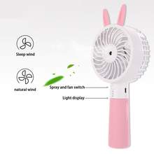 Handheld Water Spray Misting Fan USB Rechargeable Cooling Humidifier