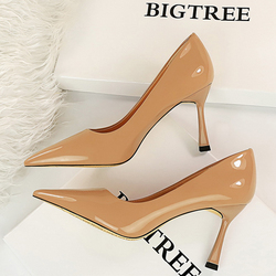 BIGTREE Shoes Patent Leather Shoes Woman Pumps Pointed Toe Women Heels Stiletto Office Shoes Women Party Shoes High Heels 8 Cm