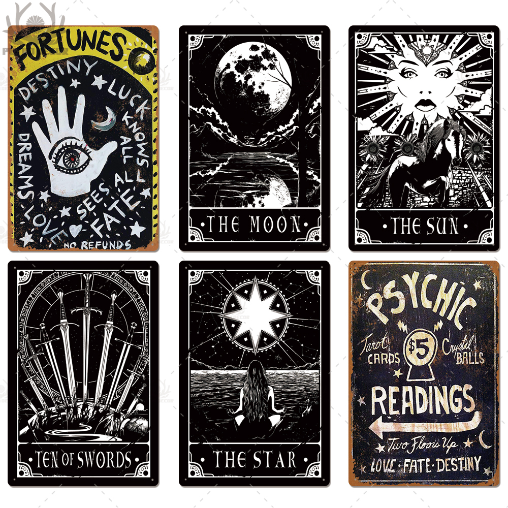 Tarot  and Psychic Metal Signs