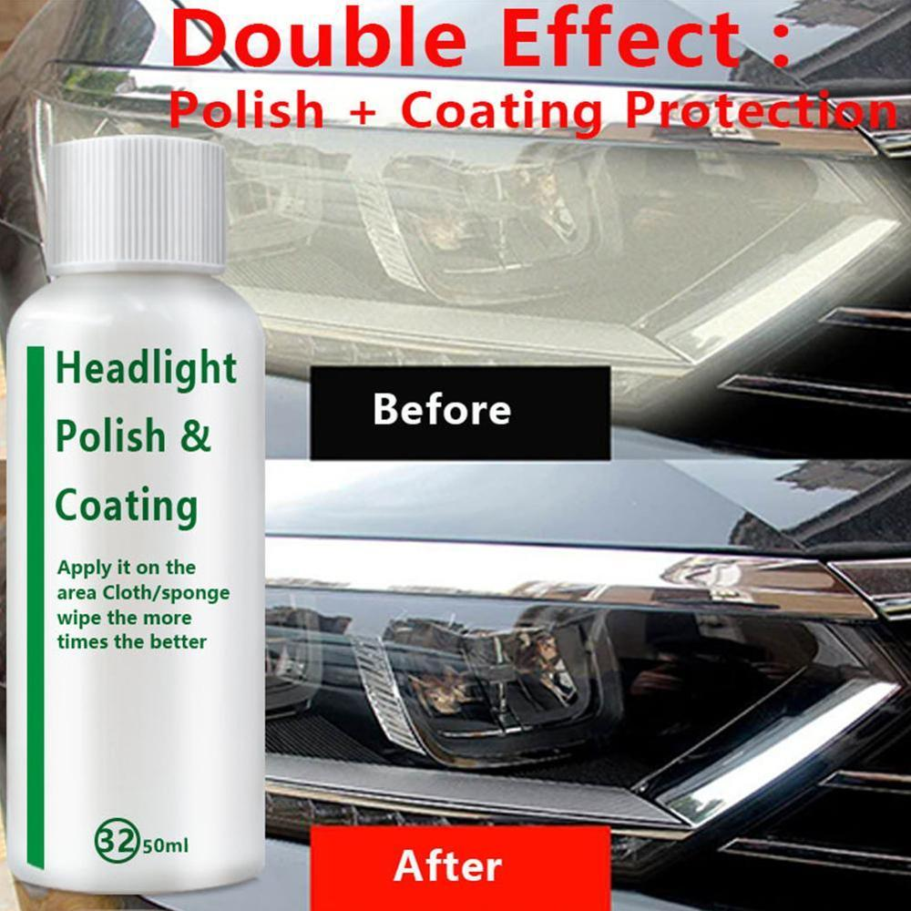 High Quality Auto Polish Len Restoration Car Headlight Repair Liquid Lamp Retreading Agent Glitter Car Headlight Restorer Kit