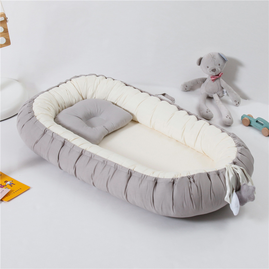 80X50cm Portable Baby Bed Reducteur De Lit Bebe Baby Nest Fabric Cotton Crib Baby Bed
