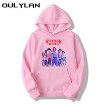 Oulylan Stranger Things Pullover Hooded Men Women Hoodies Blackpink Sweatshirts Letter Print Long Sleeve Funny Autumn Hoody(China)