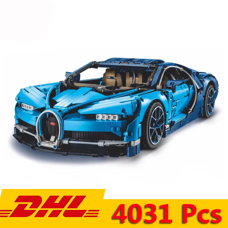 90056 4031pcs Compatible Legoed 42083 20086 Bugatti Chiron Technic Series Supercar With LED Light Building Blocks Bricks Toy