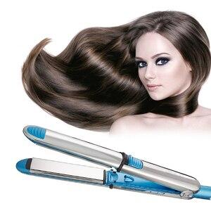 Alisador de cabelo 110-240 v max 450f titânio placa flutuante ferro liso profissional rápido alisamento de cabelo elétrico lcd digital