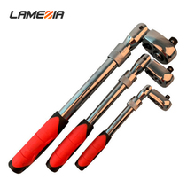 LAMEZIA 1/4 1/2 3/8 72-tooth Carbon Steel Retractable Ratchet Wrench Automatic Quick Release Spanner Multifunctional Hand Tool