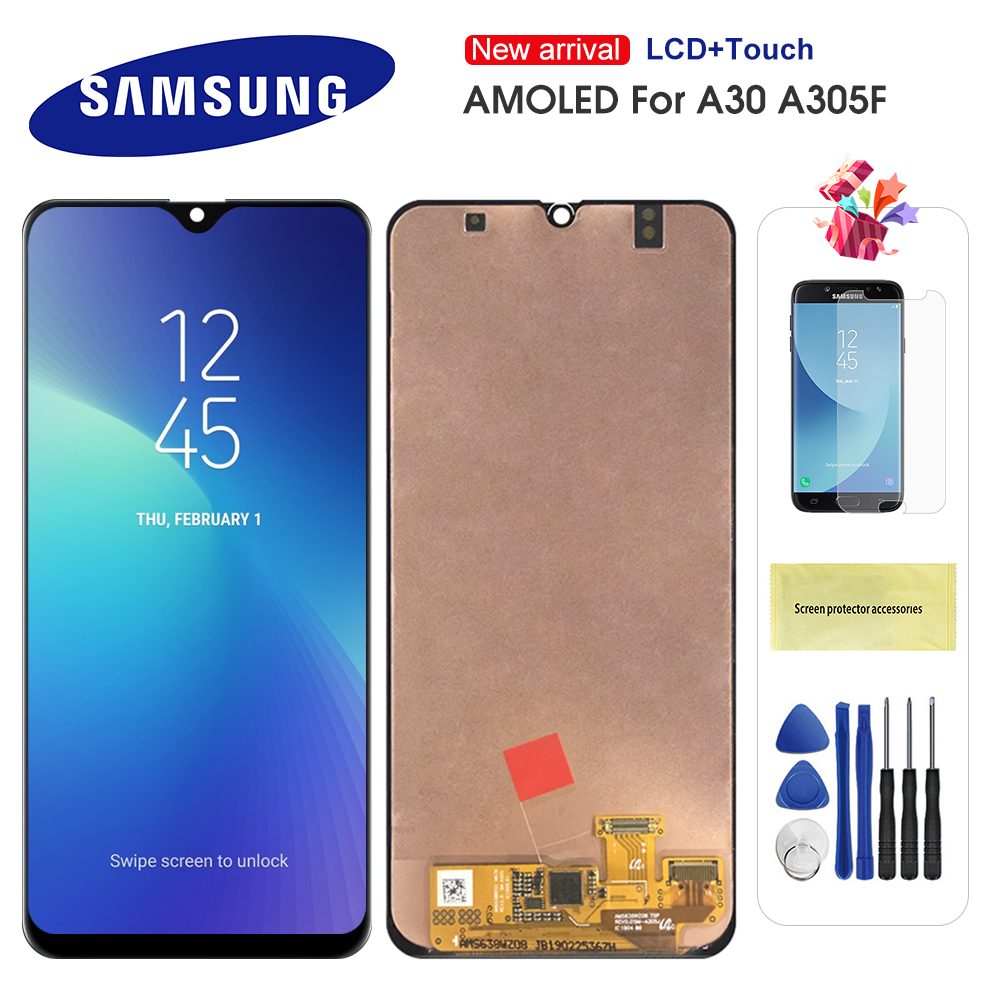 Original Super AMOLED LCD For Samsung Galaxy A30 A305/DS A305F A305FD A305A LCD Display Touch Screen Digitizer Assembly