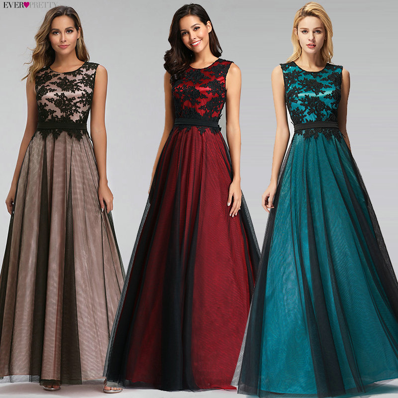 Vestido De Festa Longo Real Photo Lace Appliques Long Evening Dresses 2020 Cheap Evening Party Dresses Robe De Soiree Longue
