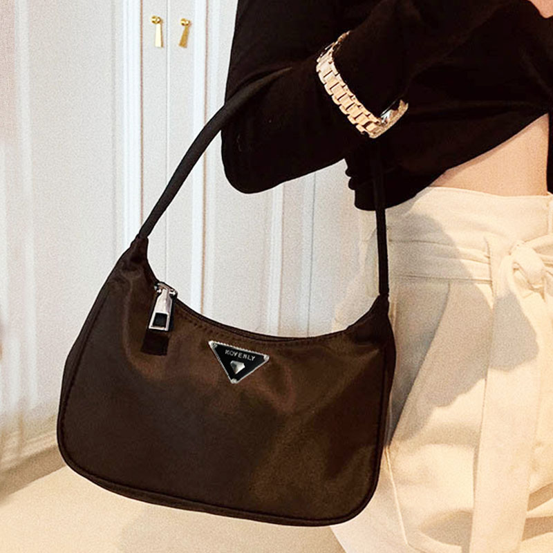 Retro Totes Bags For Women Trendy Vintage Nylon Handbag Female Small Subaxillary Bags Casual Retro Mini Shoulder Bag Kendall