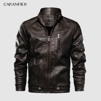 CARANFIER Brand Tactical PU Leather Jacket Mens Euro Size S-XXL Stand Collar Motorcycle Leather Jacket Male Coats Drop Shipping - DISCOUNT ITEM  45% OFF All Category