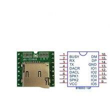 5 шт. серийный управления голосовой модуль развлечений MP3 аудио плеер плата поддерживает Вставить TF карты BY8002-16P