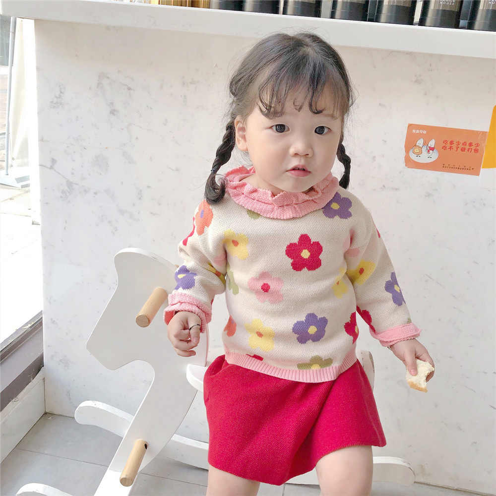 Tonytaobaby outono e inverno roupas novas meninas do bebê usar doce camisola de algodão puro camisola da criança camisola da menina