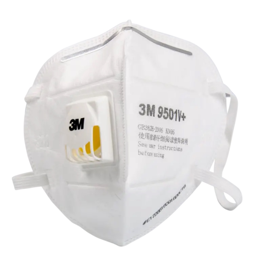 1pcs  3M 9501V+ Masks Coolflow Valve Particles Respirator Mask PM2.5 Dust Mask Respiratory Protection