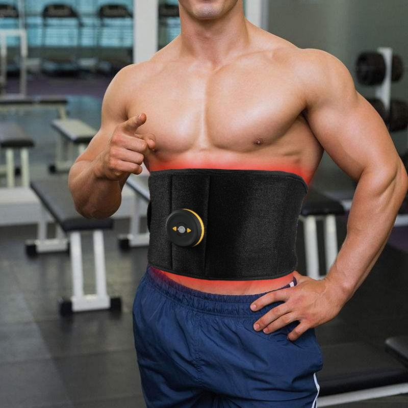 Electric Abdominal Abs Toning Belt Vibration Fitness Massager Slimming Belts Electric Muscle Stimulator Trainer Waist Support