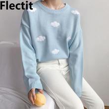 Flectit clound свитер женский с длинным рукавом и вырезом лодочкой