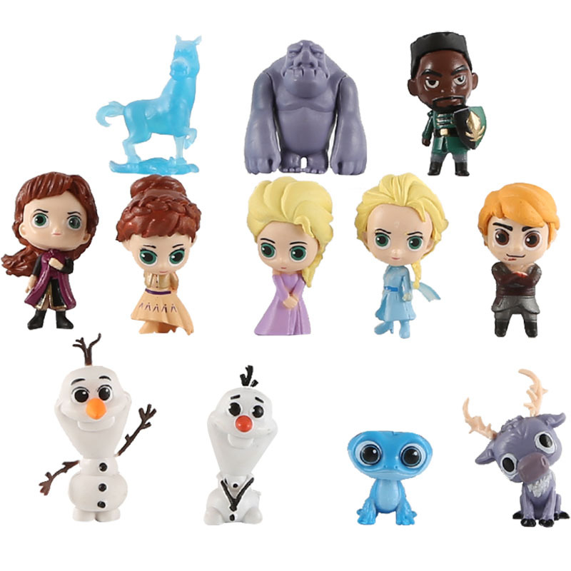 12 Pcs Mainan Disney Frozen 2 Set Elsa Anna Biru Salamander Bruni Putri Olaf Kristoff Aksi Figur Mainan Untuk Anak 2ds28 Aksi Toy Angka Aliexpress