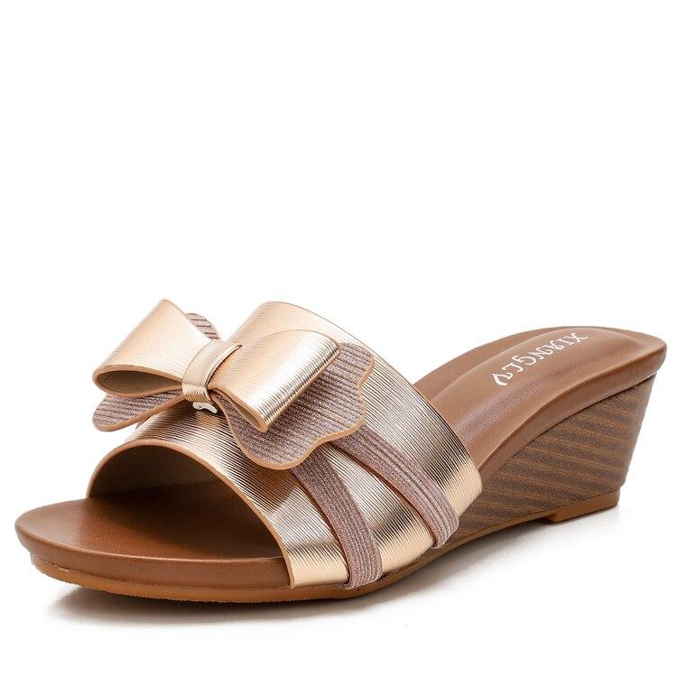Chaussures à semelles compensées pour femmes sandales de