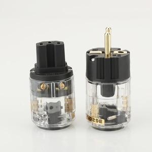 Image 3 - 1 pair  Hifi audio P 029E  C 029 EUR Schuko power cable Extension  plug