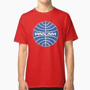 Pan Am Tshirt Pan Am Logo on Grey Shirt Classic Defunct Airline T shirt pan am pan american airlines defunct airline(China)