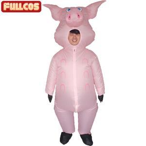 Image 2 - Rosa porco inflável trajes de porco para adultos animal halloween carnaval cosplay festa fantasia vestido feminino masculino aniversário roupas rosa
