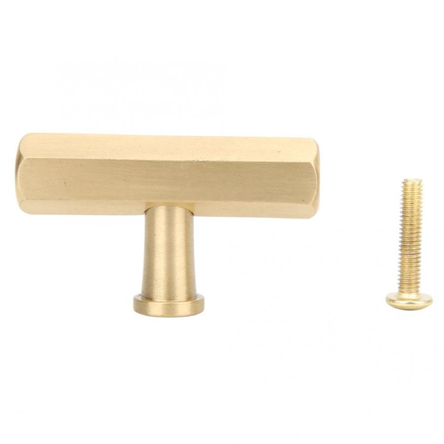 kitchen cabinet handles Single Hole Brass Handle Hex  Drawer Pulls Furniture Hardware Accessories furniture knob